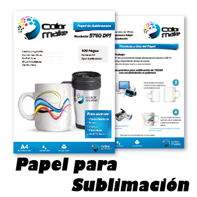 Papel para sublimación de alta calidad ColorMake 851b65de92046